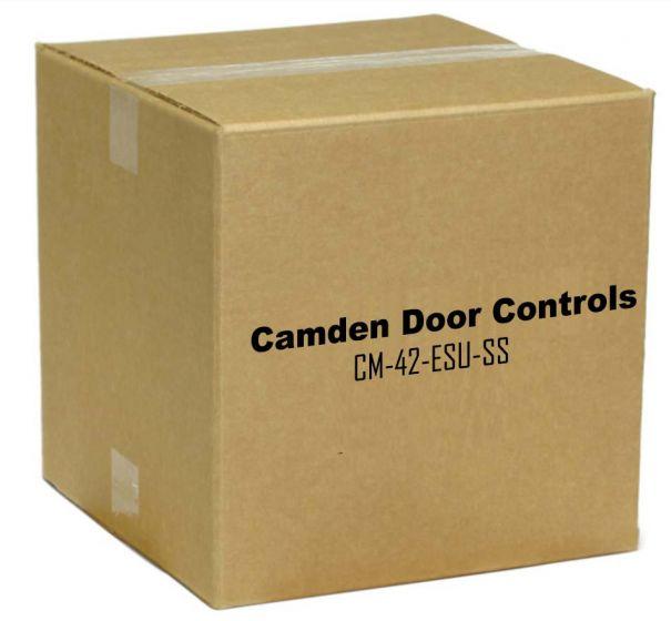 "Camden Door Controls CM-42-ESU-SS Mounting Post 42"" Bollard with 2 Switch Prep Stainless Steel CM-42-ESU-SS by Camden Door Controls"