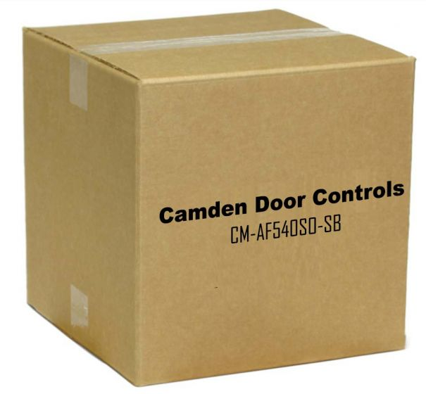 Camden Door Controls CM-AF540SO-SB Double Gang, Push/Pull Mushroom Push Button with LED Annunciator and Adjustable Sounder, 'ASSISTANCE REQUESTED', Satin Brass Finish CM-AF540SO-SB by Camden Door Controls