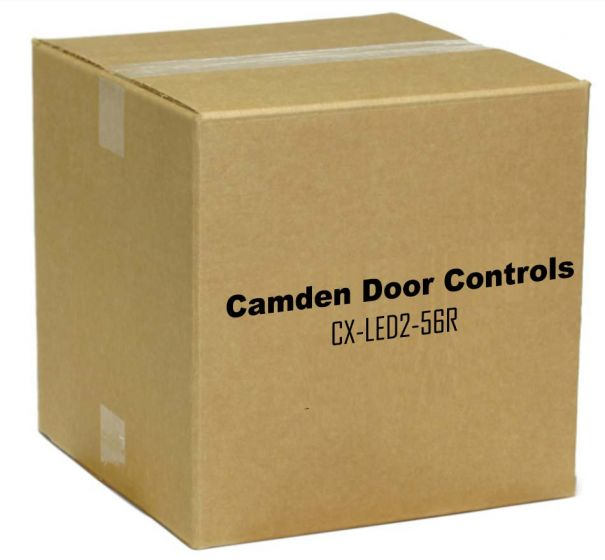 Camden Door Controls CX-LED2-56R Single Gang, 2 LEDs, Blank, 12/28 VDC, Red LED, Mounted In Faceplate, 'Occupied', 'Door Locked, 'Door Unlocked CX-LED2-56R by Camden Door Controls