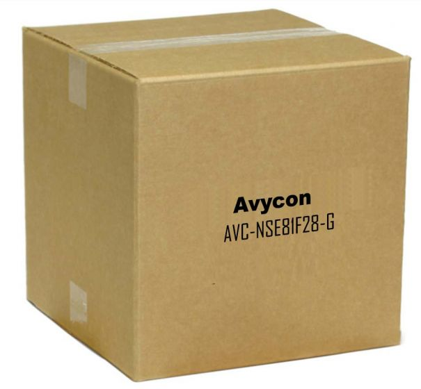 Avycon AVC-NSE81F28-G 8 Megapixel IR Outdoor Dome Camera with 2.8mm Lens in Grey Color AVC-NSE81F28-G by Avycon