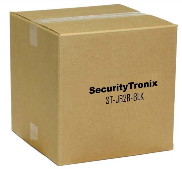 SecurityTronix ST-JB2B-BLK Junction Box for Turret Dome Camera with Conduit Intake, Black ST-JB2B-BLK by SecurityTronix