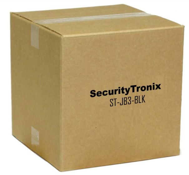SecurityTronix ST-JB3-BLK Junction Box for Dome Camera with Side or Bottom Conduit Intake, Black ST-JB3-BLK by SecurityTronix
