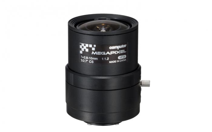 "Computar A4Z2812CS-MPIR 1/2.7"" 2.8-10mm Varifocal Lens, (CS Mount) A4Z2812CS-MPIR by Computar"