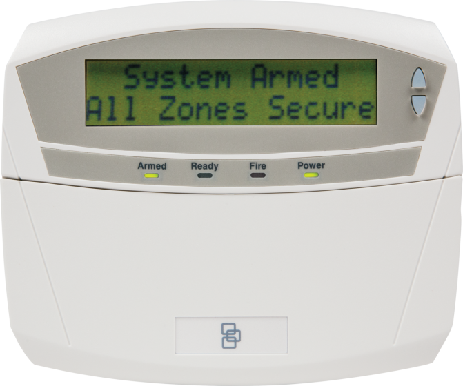 GE Security NX-1192E 192 Zone LCD Keypad With Door Euro Design NX-1192E by GE Security