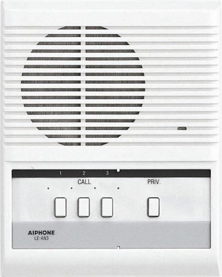 Aiphone LE-AN3 3-Call Audio Interior Sub Station with Privacy Button for LEF/LAF Master Station LE-AN3 by Aiphone