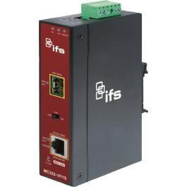 Interlogix MC352-1P-1S Gigabit Ethernet/PoE at to SFP Media Converter MC352-1P-1S by Interlogix