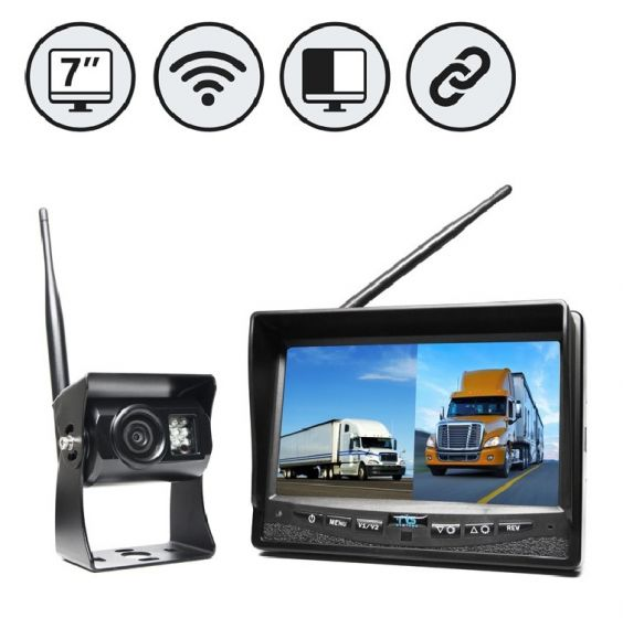"""RVS Systems RVS-2CAM-SC-02 540 TVL Backup Camera, Left Side Camera, 7"""" LW Monitor, Suction Cup Mount RVS-2CAM-SC-02 by RVS Systems"""