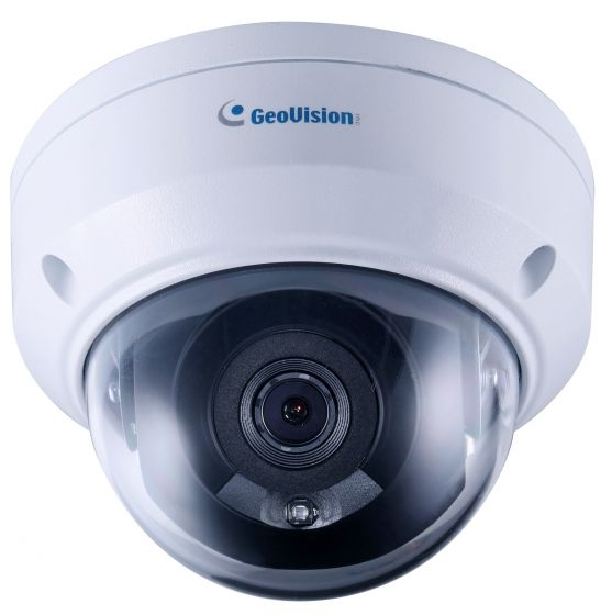 Geovision GV-TDR2704-2F 2 Megapixel IR Mini Fixed Rugged IP Dome Camera with 2.8mm Lens GV-TDR2704-2F by Geovision
