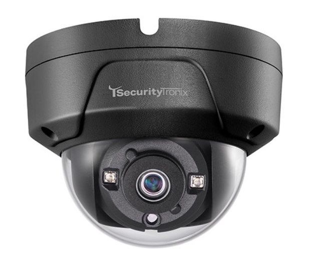 SecurityTronix ST-HDC2FD-BLK 2MP HD-TVI Outdoor IR Dome Camera with 3.6mm Lens, Black Housing ST-HDC2FD-BLK by SecurityTronix