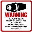 Maxwell STV-204 CCTV Sign - 10.5 x 10.5 - Red & Black