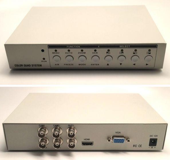 GEM HD-QUAD 1080p High Performance Quad Processor HD-TVI, 4X4, Color, Table Mount with Looping HD-QUAD by GEM