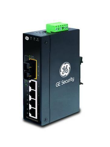 Interlogix MC-4TX2FX 4 Ethernet to 2 Fiber (2MM) 10/100 Industrial Drop and Repeat Media Converter MC-4TX2FX by Interlogix