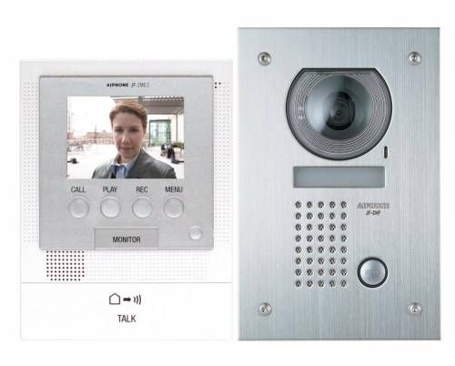 Aiphone JFS-2AEDF Hands-Free Video Intercom Set with Flush Mount JFS-2AEDF by Aiphone