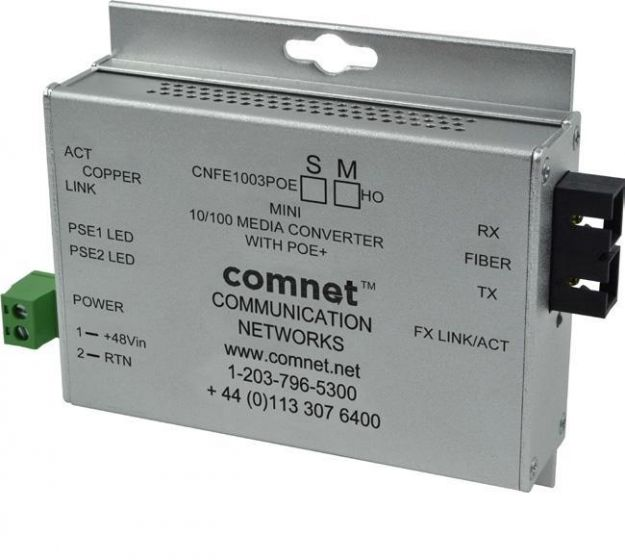 Comnet CNFE1004APOES/M Industrially Hardened 100Mbps Media Converter CNFE1004APOES/M by Comnet