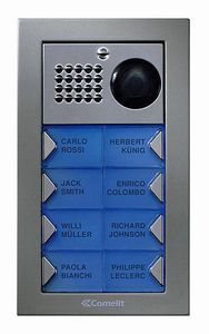 Comelit PV3F Powercom Video Flush Mount 3 Push Button Entry Panel Kit PV3F by Comelit