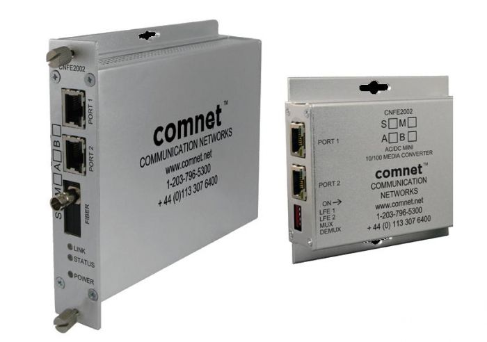 Comnet CNFE2002M1APoE/HO/M 2 Channel 10/100 Mbps Ethernet Electrical To Optical Media Converter CNFE2002M1APoE/HO/M by Comnet