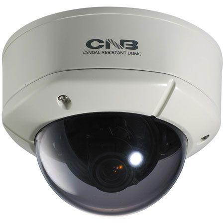 CNB V1000NVD 380TVL Analog Vandal Dome Camera, 4-9mm Lens V1000NVD by CNB