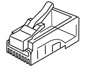 Platinum Tools 106143J RJ-45 (8P8C) Flat-Stranded 100 pc Jar 106143J by Platinum Tools