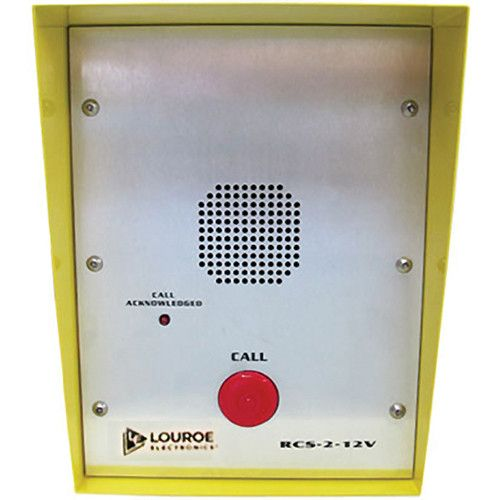 Louroe Electronics RCS-2-12V Bi-Directional Remote Call Station with 1 1/2-inch Pusgbutton with Housing RCS-2-12V by Louroe Electronics