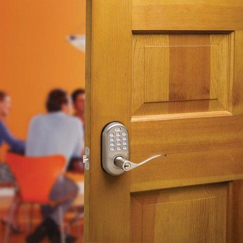 Yale YRL210-NR-605 Push Button Lever Lock Stand Alone YRL210NR605 by Yale
