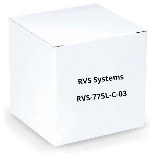 RVS Systems RVS-775L-C-03 120° 420 TVL Chrome Left Side Camera, 16' Cable, 2.1mm Lens RVS-775L-C-03 by RVS Systems
