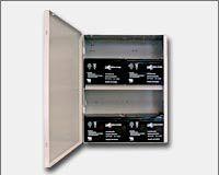 "Altronix BC400SG Enclosure, 15.5""H x 12.25""W x 4.5""D, Grey, 19 Gauge, Indoor, includes battery shelf BC400SG by Altronix"