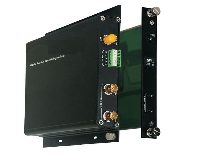 American Fibertek FT210CB-SMT 2 Channel Video Transmitter with 1 Channel Contact Closure Transceiver, Multi-Mode FT210CB-SMT by American Fibertek