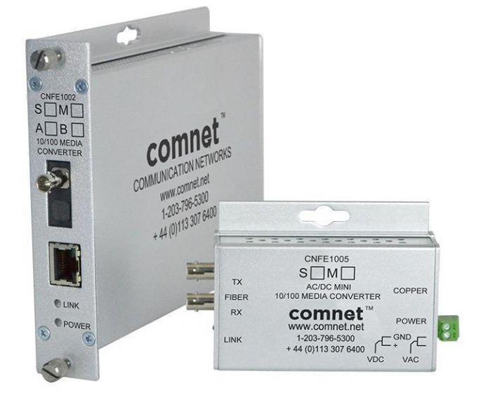 Comnet CNFE1002SAC1A-M 10/100 Mbps Mini AC/DC Power Media Converter CNFE1002SAC1A-M by Comnet