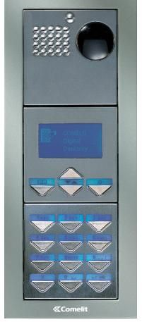 Comelit PVDF Powercom Video Flush Mount Digital Keypad with Name Directory Entry Panel Kit PVDF by Comelit