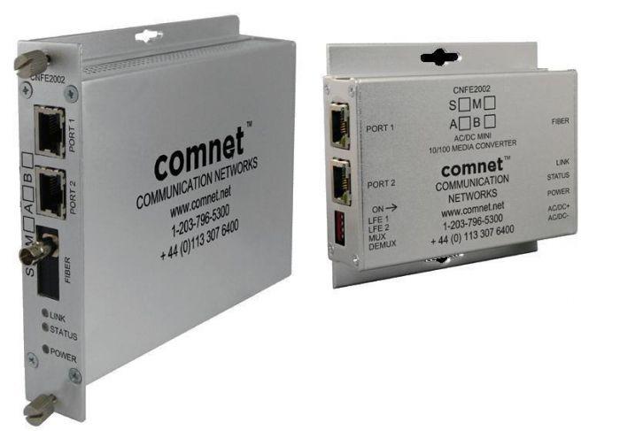 Comnet CNFE2004M1BPoE/M 2 Channel 10/100 Mbps Ethernet 1310/1550nm, 30 W PoE+, B Side CNFE2004M1BPoE/M by Comnet