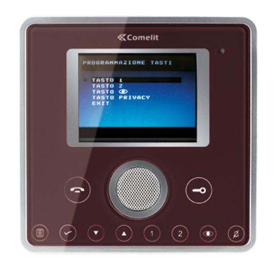 Comelit 6101C Planux Video Monitor Front Template – Wenge Colour 6101C by Comelit