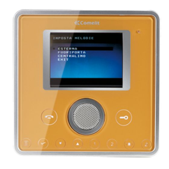 Comelit 6101J Gold Template for Planux Monitor 6101J by Comelit