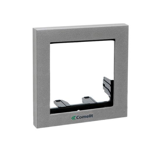 Comelit 3311-1G 1 Module Frame with Cornice, Grey, POWERCOM/IKALL Series 3311-1G by Comelit