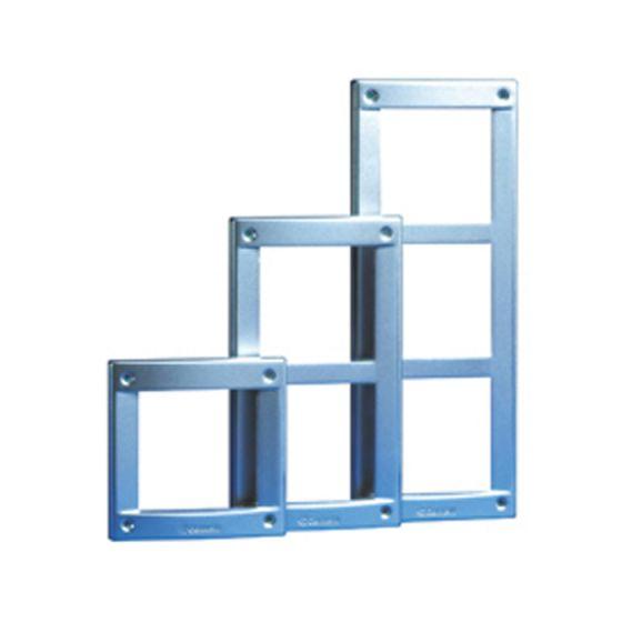 Comelit 3161-3A Module-holder Frames-Steel Gray for Vandalcom Panels, 3 Module 3161-3A by Comelit