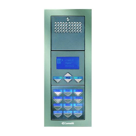 Comelit PADF Powercom Audio, Digital, Flush Mount Entrance Panel PADF by Comelit