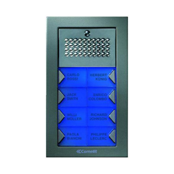 Comelit PA8S Powercom Audio 8 Push Button Surface Mount Entrance Panel PA8S by Comelit