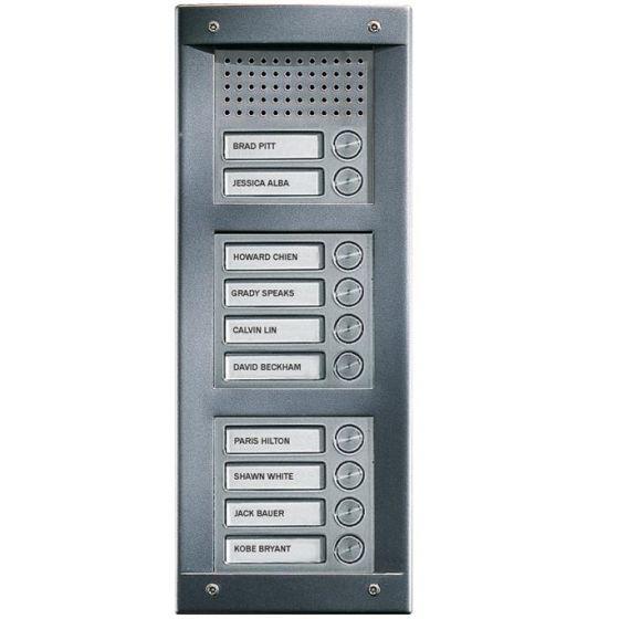 Comelit VA10F VandalCom Audio Flush Mount 10 Push Button Entry Panel Kit VA10F by Comelit