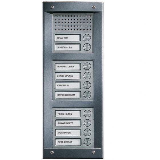 Comelit VA10S VandalCom Audio Surface Mount 10 Push Button Entry Panel Kit VA10S by Comelit