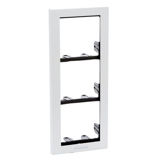 Comelit 3311-3W Ikall Series 3-Module Holder Frame with White Finishing Frame 3311-3W by Comelit