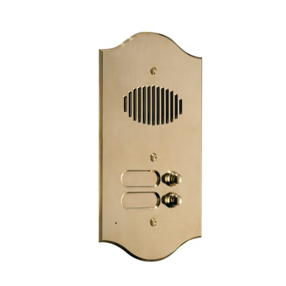 Comelit 3016/2/R Roma Series Brass Audio Entrance Panel with 16 Push-Buttons on 2 Rows 3016/2/R by Comelit