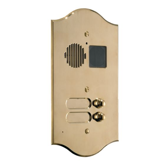 Comelit 3210-2-R Roma Series Brass Video Entrance Panel With 10 Push-Buttons On 2 Rows 3210/2/R by Comelit