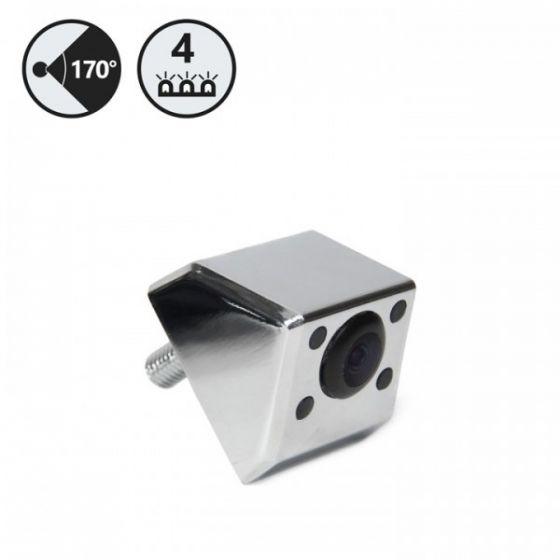 RVS Systems RVS-BV-812-06 420TVL Chrome Backup Camera with IR (Screw), 16' Cable, RCA Adapter RVS-BV-812-06 by RVS Systems