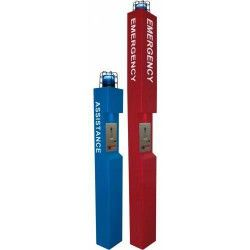 Aiphone TW-LCR Tower Top with Light and Cage, Red TW-LCR by Aiphone