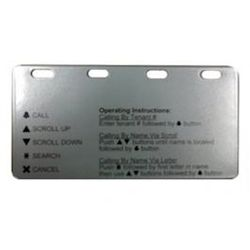 Aiphone GT-OP-PLATE Plate Describing Operation Of GTA/GTV-DES Entry Panel GT-OP-PLATE by Aiphone