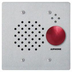 Aiphone IE-SSR 2-Gang Door Station with Red Mushroom Button, Flush Mount IE-SSR by Aiphone