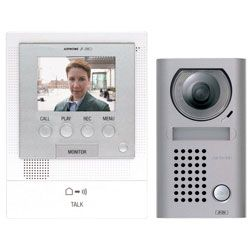 Aiphone JFS-2AEDV Hands-Free Video Intercom Set with Surface Mount, Vandal Resistant Door Station JFS-2AEDV by Aiphone