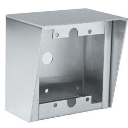 Aiphone SBX-2G Stainless Steel Surface Mount Box for 2-Gang Sub Stations SBX-2G by Aiphone