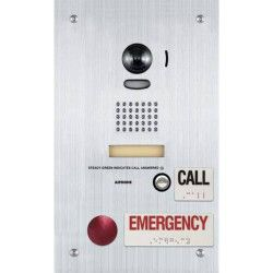 Aiphone IS-DVF-2RA Video Door Station with Emergency and Standard Call Buttons, Flush Mount IS-DVF-2RA by Aiphone