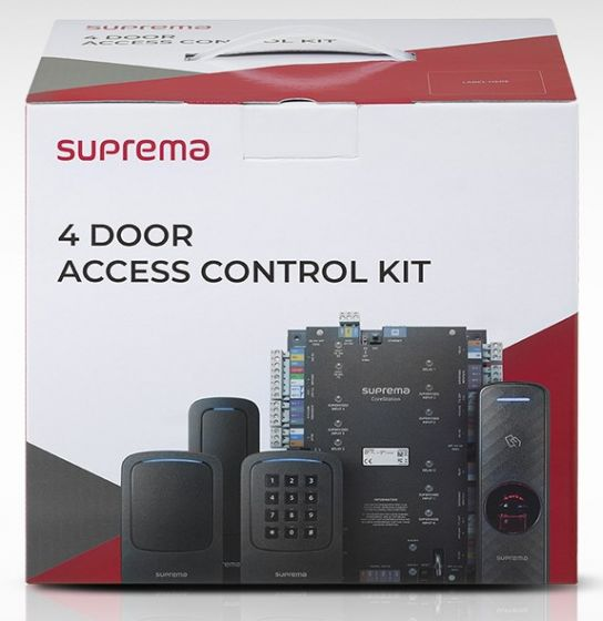 Suprema CST-4DR-R2 1 x CS-40 CoreStation Intelligent Biometric Controller & 4 x BER2-OD BioEntry R2 Compact Fingerprint Reader CST-4DR-R2 by Suprema