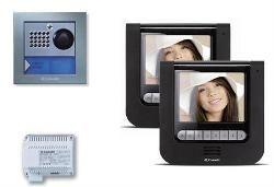 Comelit 8494BU Maestro 2 Family Kit, Black Monitor and Powercom Entrance Panel 8494BU by Comelit